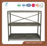 Rack de armazenamento de prateleira de supermercado de madeira