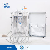 空気圧縮機の移動式歯科単位が付いているセリウムISOの携帯用歯科単位