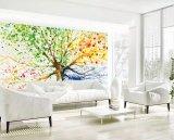La formation de mousse de style chinois le papier peint en vinyle pour décoration murale