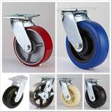 Цвет любого размера Sumpermarket PU/PP/резиновые Пластиковые колеса для тележки самоустанавливающегося колеса
