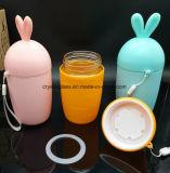 10oz garrafa de água vidro forma de coelho para o bebé