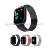 Fitness Step Counting Heart Rate Waterproof Metal Shell Sports Smart Watch, Zwart, Pink, Zilver
