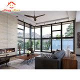 Finestra di alluminio di vetro dell'alluminio del doppio Closed di ventilazione di alta qualità/