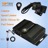 O sistema de Veículo GPS Suporte a gerenciamento de frota a RFID, Combustível&Sensor de temp. com limitador de velocidade (TK510-JU)