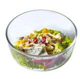 음식 급료는 빈 명확한 유리 그릇 샐러드 및 과일 유리 그릇을 두껍게 한다