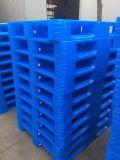 120x100cm três calhas de paletes de plástico reforçado de volta para o sistema de racks
