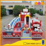 Station de pompiers gonflable Fun City amusement pour les enfants de l'équipement de terrain de jeux gonflables (AQ01721)