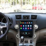 auf Gedankenstrich-vertikalem Bildschirm 12.1 Zoll-androide Hauptgeräten-Multimedia für Toyota-Hochländer 2009-2013