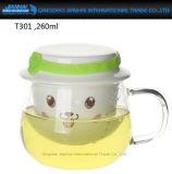 tazza di vetro tutta compresa del tè 260ml con il filtro ed il coperchio Integrated