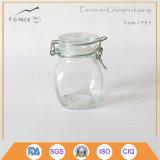 Glasglas des salz-4oz mit Kippen herauf Schutzkappe