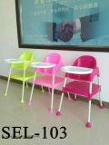 Ajustável de alta cadeira de bebé cadeira alimentar Cadeira Jantar de plástico