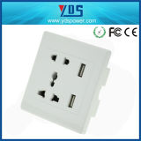 EU/UK/Us/Un Type Electrical Socket, 5V 2.1A Dual USB Wall Socket