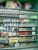 Полка индикации супермаркета с вися крюками для пакета волдыря