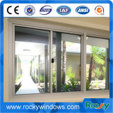 Alluminio che fa scorrere la finestra di scivolamento dell'alluminio di vetratura doppia di Windows