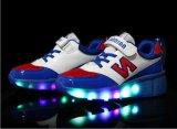 Marca de fábrica de la marca de fábrica Fábrica Patín de los zapatos para los cabritos, zapatos del patín del rodillo de los hombres para los adultos, zapatos del rodillo del deporte con las ruedas retráctiles