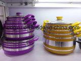 Vaschetta & POT di frittura antiaderanti rivestiti di alluminio della lega per gli insiemi Sx-T005 del Cookware