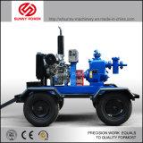 Bomba de agua de diesel para el control de inundaciones con remolque de dos ruedas