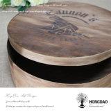 Hongdao подгоняло деревянный круглый шоколад Box_E торта расстегая печенья еды