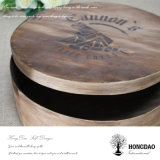 Hongdao paste de Houten Ronde Chocolade Box_E van de Cake van de Pastei van het Koekje van het Voedsel aan