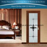 Aluminiumdusche-Tür mit ausgeglichenen Gläsern
