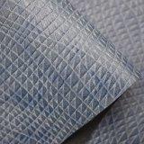 Выбитая Weave искусственная кожа Faux PU для ботинок мешков