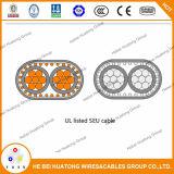 Conductor del estándar tres del certificado UL854 de la UL con el cable concéntrico de la tierra 6-6-6-6 descubierto Ser