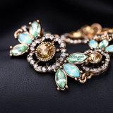 De hoogwaardige Armband van het Kristal van de Bloem van de Juwelen van de Manier Retro Stijl diamant-Beslagen