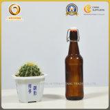 Schutzkappen-Schliessen des Schwingen-500ml bernsteinfarbige Kombucha Glasflasche (599)