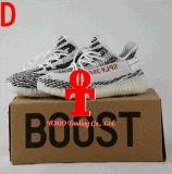 2017 Originais Yeezy 350 Boost V2 Beluga Sply-350 Preto Branco Preto Peach Homens Mulheres Sapatos de corrida Kanye West Yezzy Boost 350 com caixa