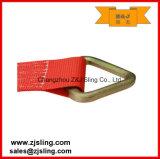 """cinta 4 """" vermelho da catraca da carga de 4 """" anéis-D de X 30 '"""