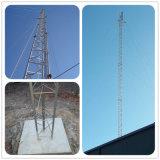 Tour en acier personnalisée de trellis de télécommunication angulaire de Guyed