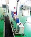 Máquina de gravura em linha da marcação do laser da mosca da fibra do CO2 para a linha de produção