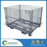 Compartimento da malha de arame dobrável de aço e cesto de armazenamento para Palete