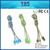 cable de carga USB Micro tejidos de colores trenzada Nylon Cable móvil