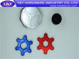 Peça de alumínio do CNC dos prendedores da cor do baixo preço