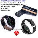 Acero inoxidable del reloj inteligente con monitor de ritmo cardíaco (K88H)