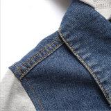 С капюшоном куртка Jean крепежной детали цвета контраста отдыха для одежд человека