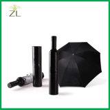 Cadeau personnalisé de l'artisanat de la publicité promotionnelle de gros de bouteille de vin d'impression parapluie avec logo
