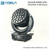 28X 25W 고성능 LED 이동하는 맨 위 세척 빛