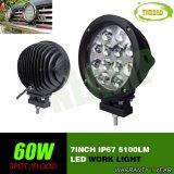 luz de trabajo del trabajo de la lámpara LED de 7inch 60W con el CREE LED