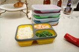 Alloggiamenti di aspirazione della casella di pranzo di Bento dell'organizzatore della cucina del contenitore di alimento di Microwavable della casella di memoria del silicone della famiglia/Estensione-Tipo