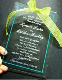 Em acrílico transparente Cartão de Convite de casamento exclusivo cortados a laser (BTR-U3002)