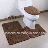 Jeu de tapis de bain anti-dérapant pour la maison Toilette haute pile