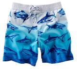 Mode d'été coton Cargo Shorts Ombre Shark Swim Trunks Mens trois quart de la cargaison des courts-circuits