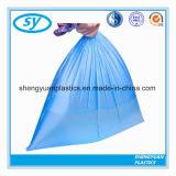 Sac d'ordures remplaçable biodégradable en plastique de cordon