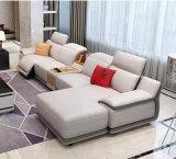 L形の革リクライニングチェアのソファーの家具、現代居間の家具(G17324)