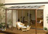 Tonalità di lega d'alluminio del tetto dello strato del policarbonato del Bayer del blocco per grafici, tenda del baldacchino