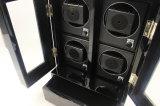 Dobadoura elétrica do relógio dos rotores de madeira lustrosos pretos do revestimento 4