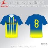 Novo Design Healong Sublimação de vestuário de futebol masculino Jersey