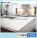 Bancada de mármore da cozinha da pedra de quartzo da cor